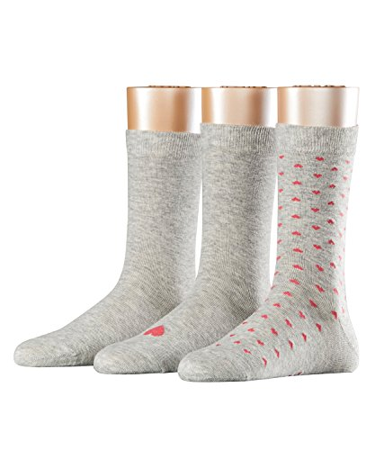 ESPRIT Damen Strick Socken Soli Pattern 3er Pack, Gr. 36/41, Grau (storm grey 3820)
