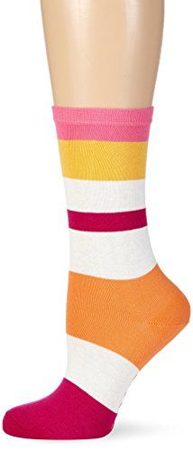 ESPRIT Damen Strick Socken Stripe Mix, Gr. 35/38, Rosa (azalea 8500)