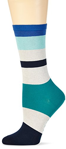 ESPRIT Damen Strick Socken Stripe Mix, Gr. 39/42, Blau (marine 6120)