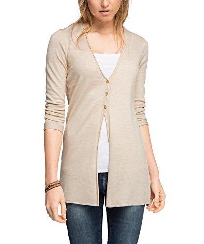 ESPRIT Damen Strickjacke länger geschnitten, Gr. 40 (Herstellergröße: L), Grau (ICE 5 059)