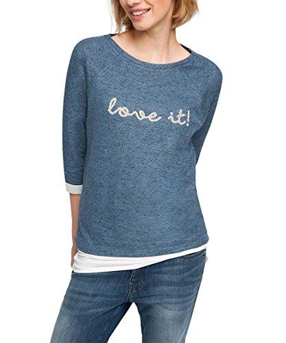 ESPRIT Damen Sweatshirt 016EE1J006, Gr. 36 (Herstellergröße: S), Blau (NAVY 400)