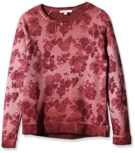 ESPRIT Damen Sweatshirt mit Blumenmuster, Gr. 36 (Herstellergröße: S), Rosa (DARK OLD PINK 675)