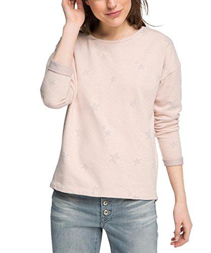ESPRIT Damen Sweatshirt mit Sternenprint, Gr. 38 (Herstellergröße: M), Rosa (PASTEL PINK 695)