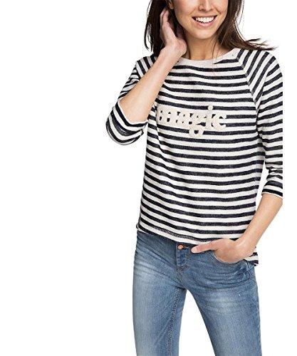 ESPRIT Damen Sweatshirt mit aufgenähtem Schriftzug, Gr. 36 (Herstellergröße: S), Mehrfarbig (NAVY 400)