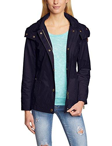 ESPRIT Damen Trenchcoat Jacke 035EE1G008, Gr. 36, Blau (CINDER BLUE 406)