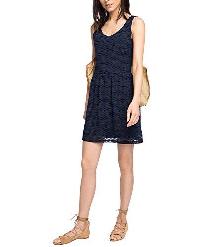 esprit damen tulpen kleid sommerlich knielang gr 38 blau navy mode outlet online. Black Bedroom Furniture Sets. Home Design Ideas