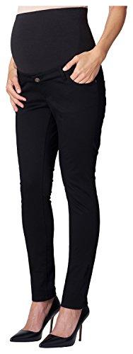 ESPRIT Maternity Damen Slim Umstandshose Pants OTB, Gr. 38 (Herstellergröße: 38/32), Schwarz (Black 001)
