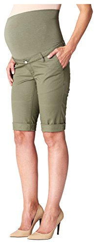 ESPRIT Maternity Damen Umstands Shorts C84125, Gr. 40, Grün (Adventure Green 313)