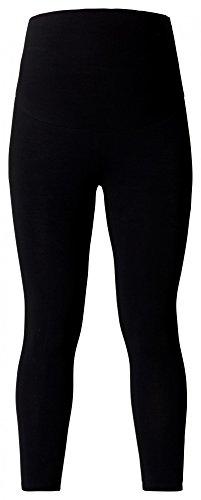 ESPRIT Maternity Leggings Cotton/Mix Damen Umstandsmode Strümpfe/ Strumpfhose M84101 (L/XL, schwarz (7/8 Leggings))