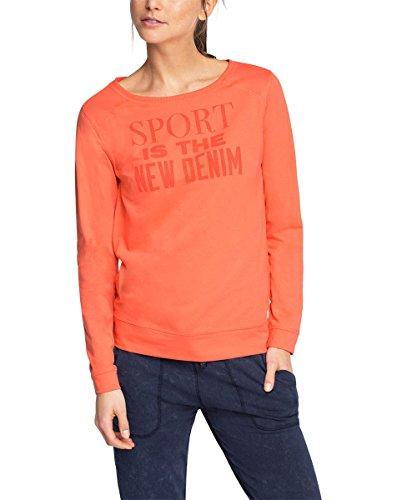 ESPRIT SPORTS Damen Sport Sweatshirt Baumwoll - Mix Langarmshirt sportiv, Gr. 38 (Herstellergröße: M), Rot (CORAL 645)