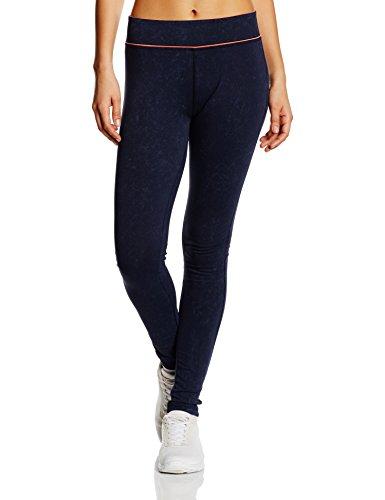 ESPRIT SPORTS Damen Sporthose Baumwoll - Mix Leggings, Gr. 38 (Herstellergröße: M), Blau (NAVY 2 401)
