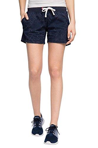 ESPRIT SPORTS Damen Sporthose Baumwoll - Mix Sweat shorts mit Taschen, Gr. 42 (Herstellergröße: XL), Blau (NAVY 3 402)