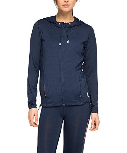 ESPRIT SPORTS Damen Trainingsjacke E - Dry Funktions Cardigan mit Kapuze, Gr. 40 (Herstellergröße: L), Blau (NAVY 400)