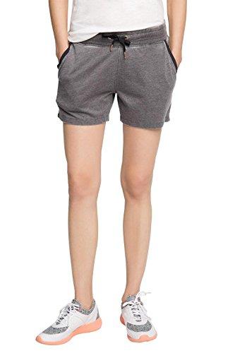 ESPRIT Sports Damen Sportshorts Casual Sweatshorts aus Baumwollmix, Grau (Anthracite 2 011), 40 (Herstellergröße: L)