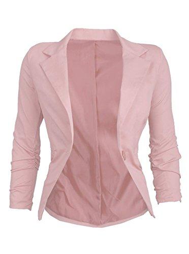 Eleganter Damen Blazer Jäckchen Business Freizeit Party Jacke in mehreren Farben