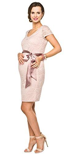 Elegantes und bequemes Umstandskleid, Brautkleid, Hochzeitskleid für Schwangere Modell: Lace, hellrosa, S