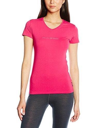 Emporio Armani Damen T-Shirt, 163140, GR. 36 (Herstellergröße: M), Rot (Rouge Magenta)