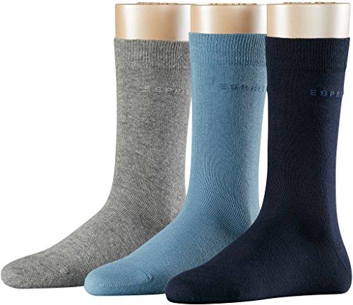 Esprit Damen Socken 3er Pack // Gr. 36-41 // 19807 // blau, hellblau + grau mel. (0060)