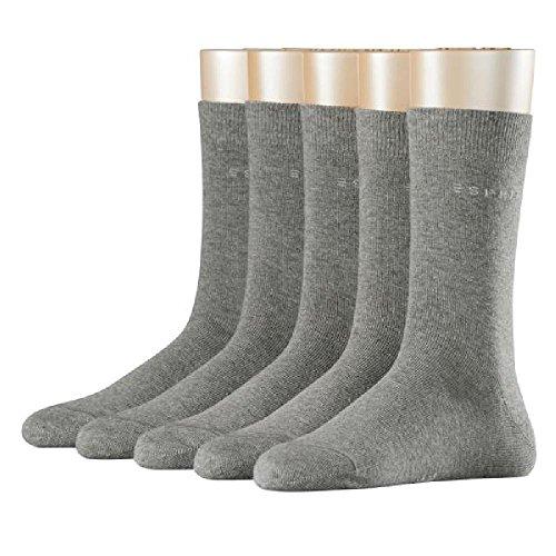 ESPRIT Damen Socken Uni 5er Pack, NA, 5er Pack, Grau (Light Greymeliert 3390), 36/41