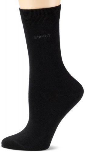 Esprit Damen Socken Uni, Größe:35/38; Farbe:schwarz
