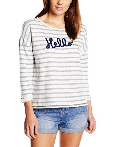 Esprit Damen Sweatshirt, Gestreift Gr. 36, Blau - Blau (Navy)