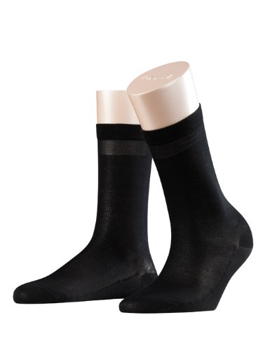 FALKE Damen Socken 47535 Cotton Delight SO, Gr. 39/40, Schwarz (black 3009)
