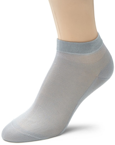 FALKE Damen Socken 47555 Cotton Delight SS, Gr. 39/40, Grau (silver 3290)
