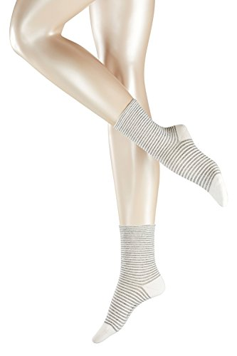 FALKE Damen Strick Socken Even Stripe, Gr. 39/42, Grau (stonegrey 3295)