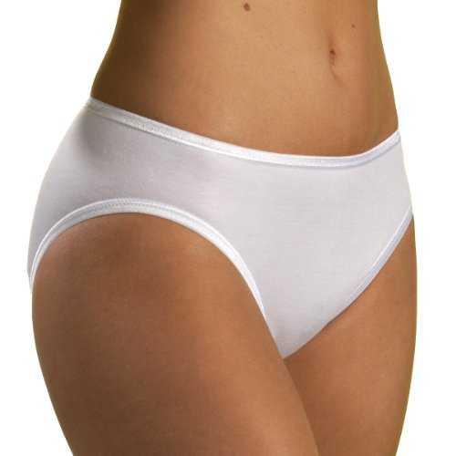 HERMKO 1031 5er Pack Damen Midi-Slip , Farbe:weiß, Größe:44/46 (L)