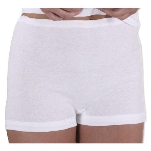 HERMKO 1650 3er Pack Damen Pagen-Schlüpfer aus 100% Baumwolle,, Farbe:weiß, Größe:42(M)