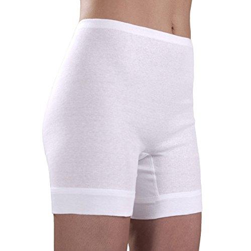 HERMKO 1900 Damen Langbeinschlüpfer; Unterhose mit Tunnelzug und längerem Bein, Farbe:weiß, Größe:46 (L)