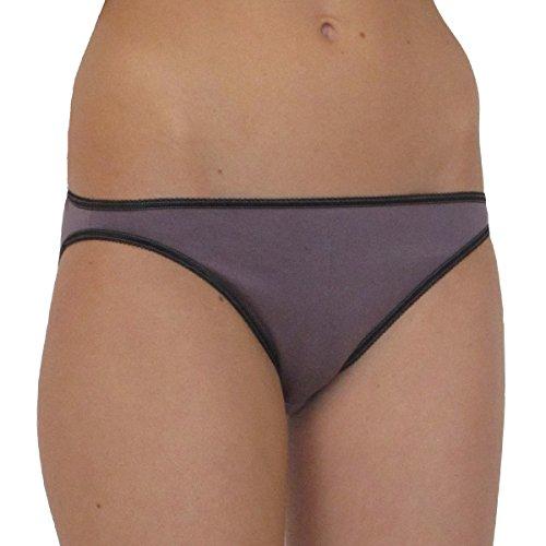 HERMKO 7043 Damen Hüftslip women Slip niedrig Unterhose aus der Softfaser Modal, weiche Quälität mit seidigem Glanz, Farbe:pflaume;Größe:D 44/46 = EU L