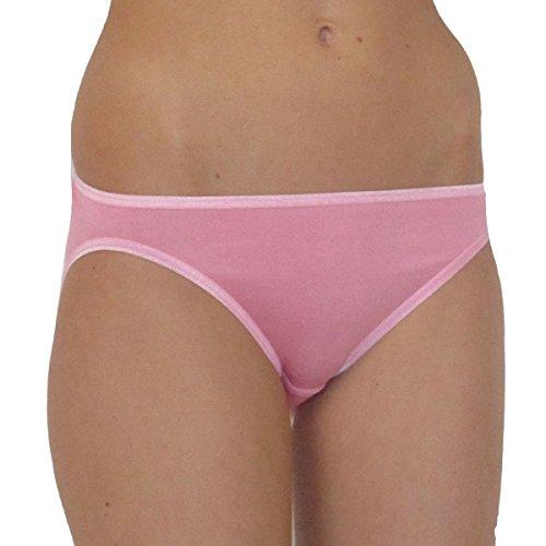HERMKO 7302 Damen Mini-Slip aus der Soft-Faser Modal, Größe:36/38 (S), Farbe:rosa