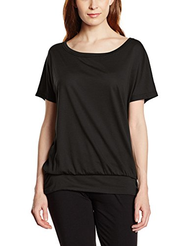 Intimuse Damen Sport T-Shirt, Schwarz (Schwarz), 44 (Herstellergröße: L)