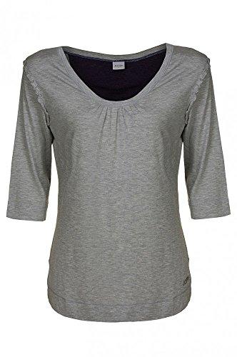 JOOP Langarm T-Shirt Isa Grau Shirt Damen Freizeit P8201-444, Größenauswahl:L