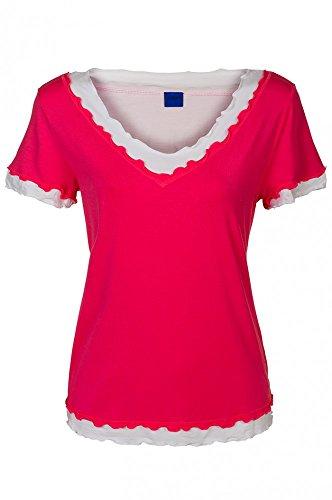 JOOP Pink Nachtwäsche Freizeit Shirt T-Shirt Damen P8200-603, Größenauswahl:M