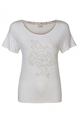JOOP Weiß Nachtwäsche Top Freizeit Shirt T-Shirt Damen P8201-135, Größenauswahl:S