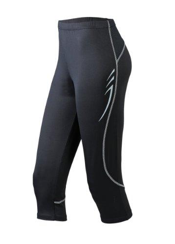 James & Nicholson Damen Sport Legging Running 3/4 Tights schwarz (black) Medium