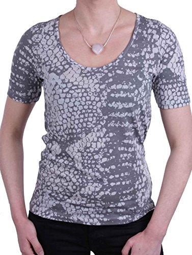 Jette Joop Damen Shirt T-Shirt Kurzarm Grau Tiermuster Gr. 38 #22(38)