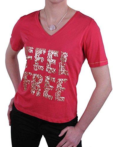 Jette Joop Damen Shirt T-Shirt Kurzarm Rot Gr. 38 #18(38)