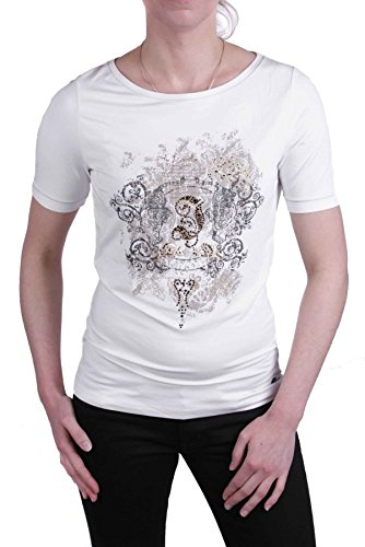 Jette Joop Damen Shirt T-Shirt Kurzarm Weiß Gr. 38 #25(38)