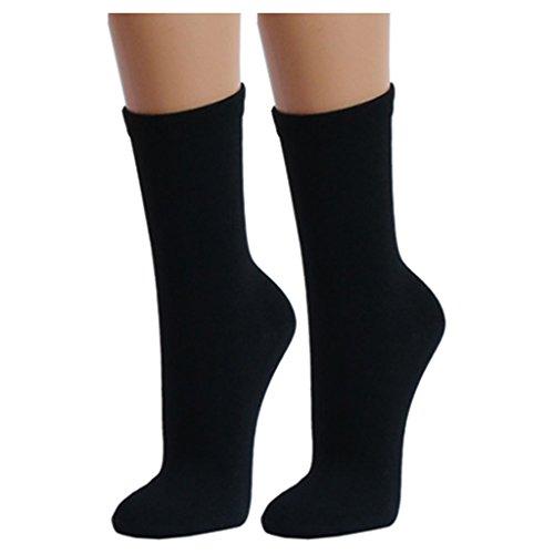 Lavazio® 12 | 24 | 36 | 48 Paar Topmodische Socken für Damen &Teenager verschiedene Farb-Kombis, Größe:39-42, Farbe:schwarz