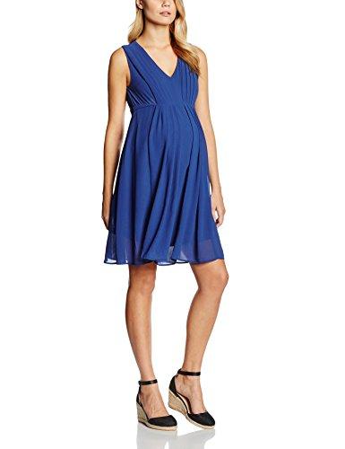 MAMALICIOUS Damen A-Linie Umstandskleid MLNEWWEDD SL MARY WOVEN DRESS NF, Knielang, Gr. 38 (Herstellergröße: M), Blau (Twilight Blue)