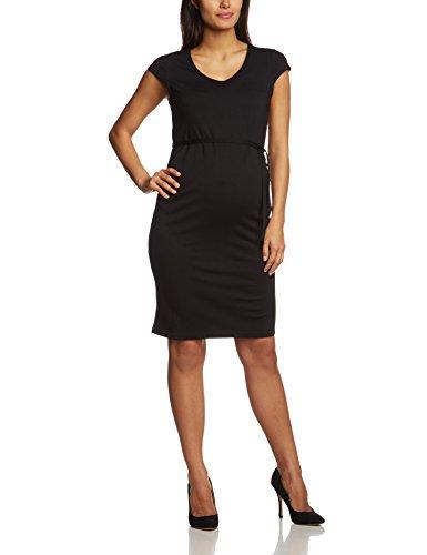 MAMALICIOUS Damen A-linie Umstandskleid MLBLACKIE CAP SLEEVE JERSEY DRESS NOOS, Knielang, Einfarbig, Gr. 42 (Herstellergröße: XL), Schwarz