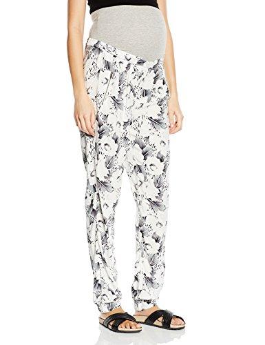 MAMALICIOUS Damen Bundfalten Umstandshose Mlpabla Woven Pants, Gr. 36 (Herstellergröße: S), Mehrfarbig (Bright White)