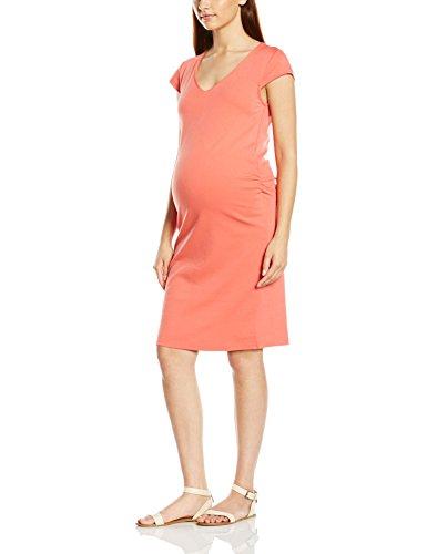 MAMALICIOUS Damen Etui Umstandskleid Mlblackie Cap Sleeve Jersey Dress-Camp, Knielang, Einfarbig, Gr. 38 (Herstellergröße: M), Orange (Spiced Coral)
