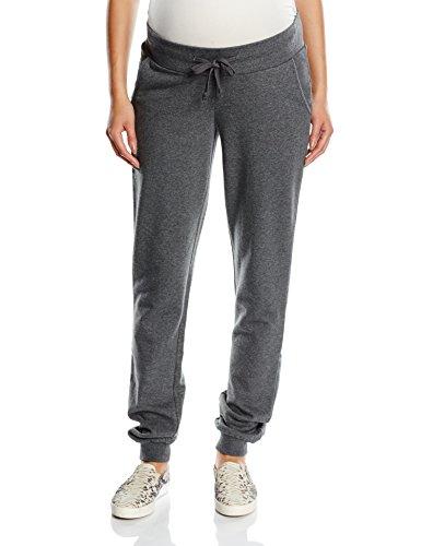 MAMALICIOUS Damen Tapered Umstandshose MLNEW KARLA SWEAT PANT, Gr. 36 (Herstellergröße: S), Grau (Medium Grey Melange)