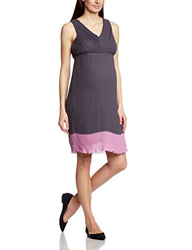 MAMALICIOUS Damen Umstandskleid 20003807, Knielang, Gr. 36 (Herstellergröße: S), Mehrfarbig (Nine Iron)