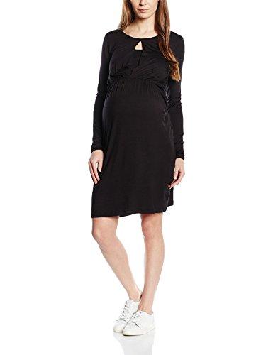 MAMALICIOUS Damen Umstandskleid Jersey mit Stillfunktion, Midi, Gr. 38 (Herstellergröße: M), Schwarz
