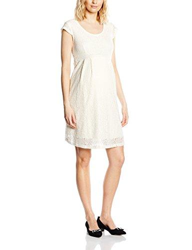 MAMALICIOUS Damen Umstandskleid MLCIA CAP SLEEVE LACE DRESS, Mini, Einfarbig, Gr. 38 (Herstellergröße: M), Weiß (Snow White)